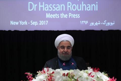 پاسخ روحانی به خبرنگاران در نیویورک