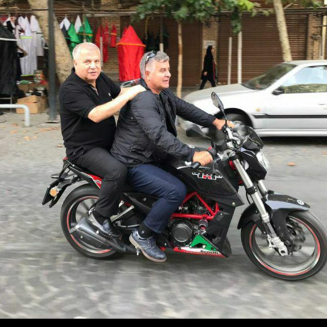 موتورسواری علی پروین در ایام عزاداری محرم