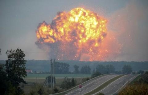 انفجارهای انبار موشک اوکراین