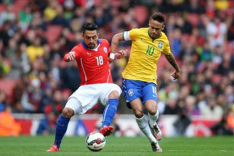 خلاصه بازی برزیل - شیلی