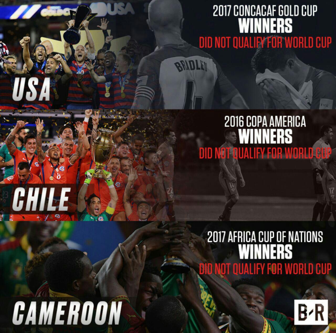 قهرمان سه قاره جهان به جام جهانی نرفتند! +عکس