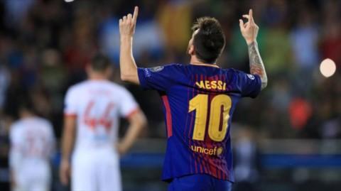 خلاصه بازی بارسلونا - المپیاکوس