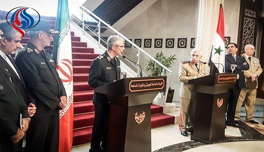 امضای تفاهمنامه نظامی بین ایران و سوریه