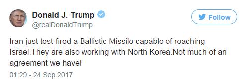 واکنش ترامپ به آزمایش خیالی موشکی ایران، مضحکه روزنامهنگاران دنیا شد