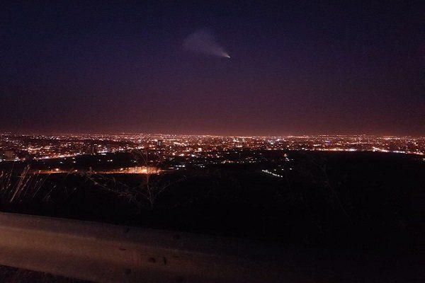 شئی نورانی در آسمان ارومیه