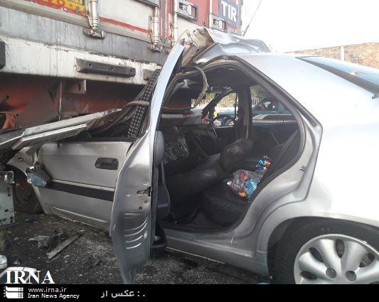 تصادف در آزادراه پلزال-خرمآباد با 2 کشته