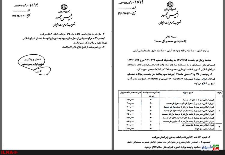 افزایش 2میلیونی حقوق اعضای شورای شهر تهران