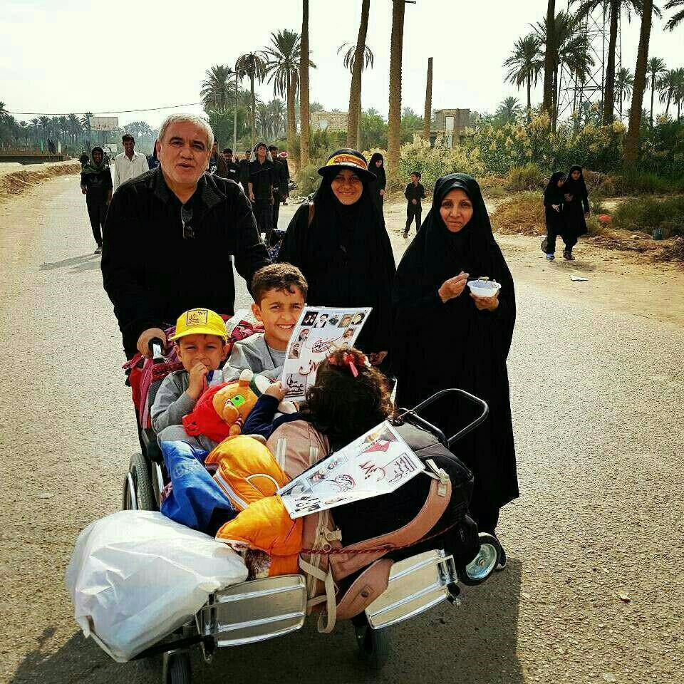فتح الله زاده، خانواده ونوه هادرراهپيمايي أربعين