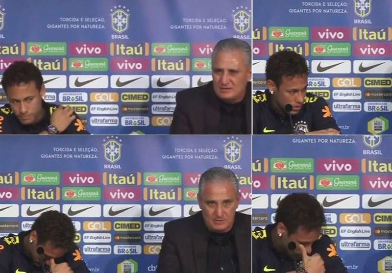 اشک نیمار در کنفرانس خبری تیم ملی برزیل