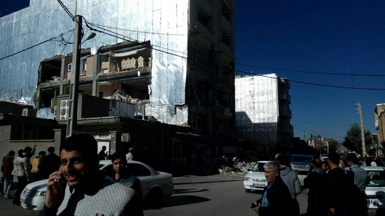خسارت زلزله در اسلام آباد غرب