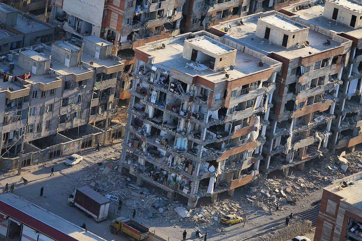 تخریب ساختمان های مسکن مهر در زلزله