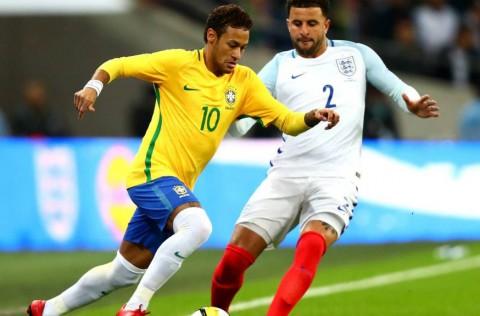 گزیده بازی برزیل - انگلیس