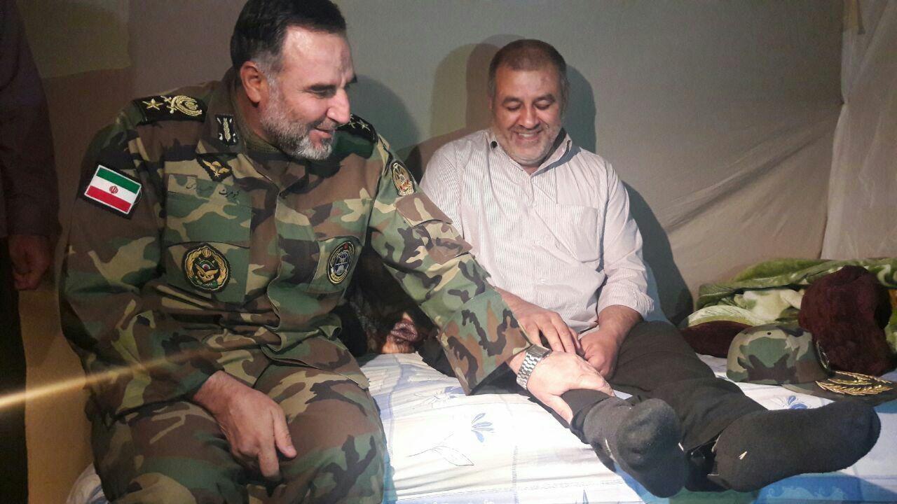 انتقال موکب اربعین ارتش به مناطق زلزلهزده