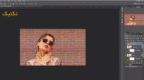 تکنیک انتقال عکس روی دیوار آجری