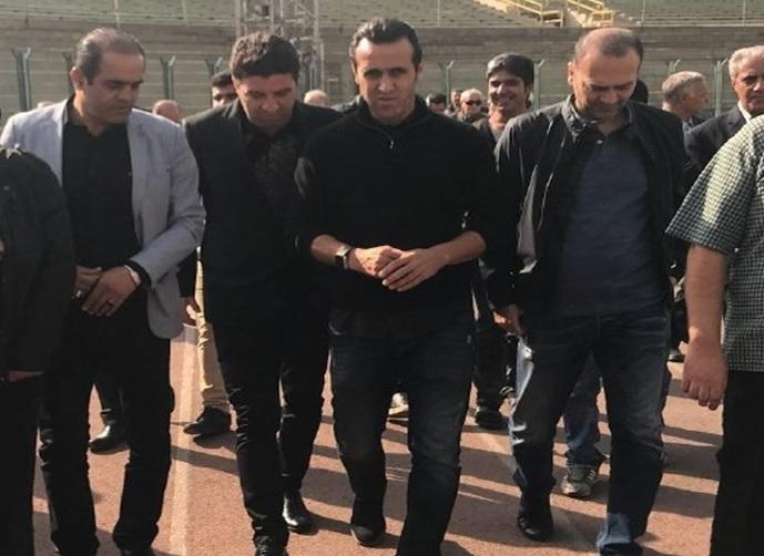 حضورخانواده آشتیانی و بزرگان پرسپولیس درتشییع پیکر