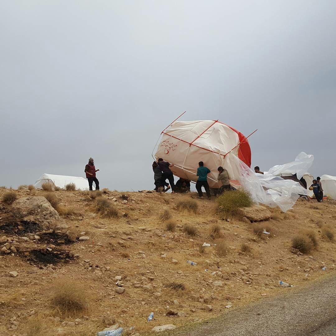 باد و باران؛مشکلات تازه زلزله زدگان