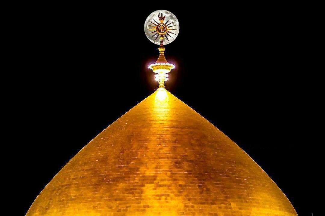 تصویر ویژه از پدیده «ابَر ماه» در نجف اشرف