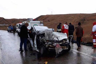 ۵ کشته در تصادف پراید با کامیون