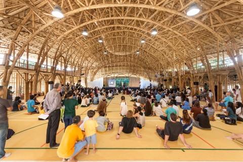مدرسهای در تایلند ساخته شده از گیاه بامبو