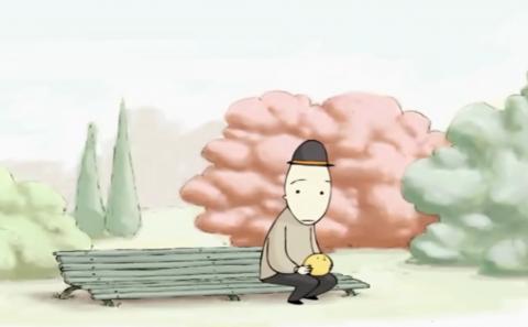 انیمیشن پرنده و مرد