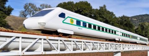 قطاری که با نیروی هوا به حرکت در می آید