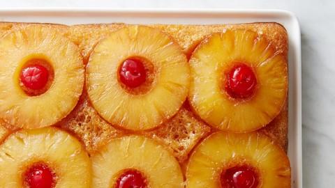 طرز تهیه کیک آناناسی واژگون