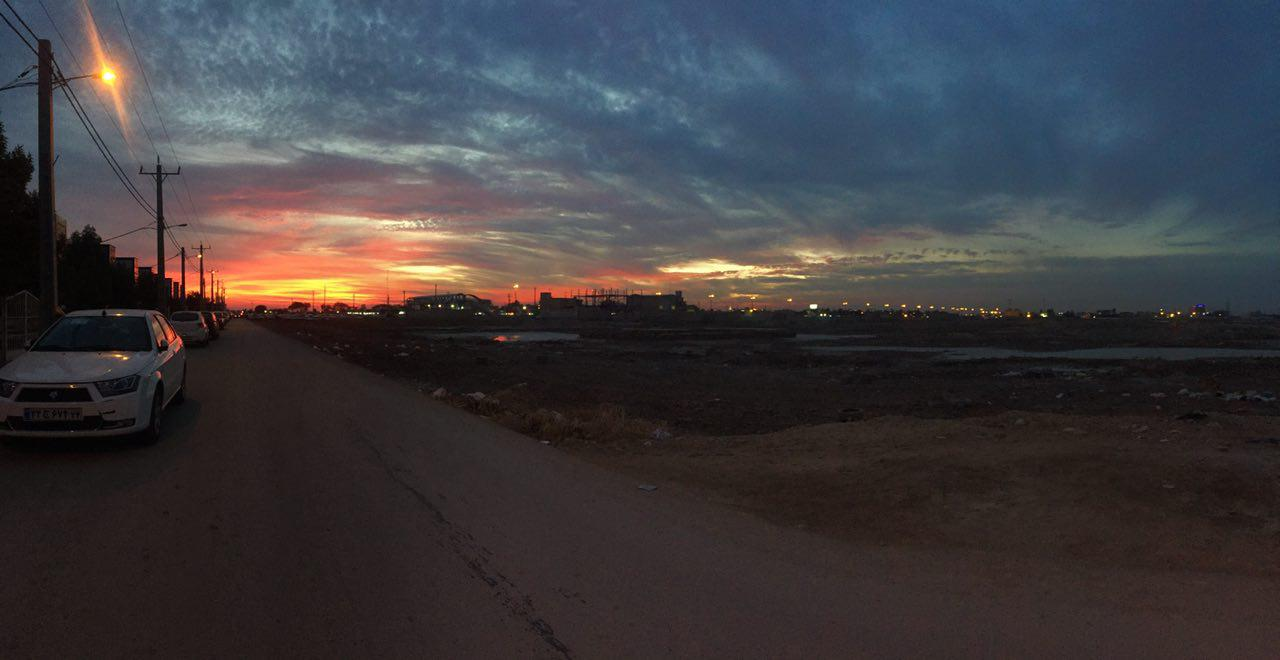 غروب خورشید در خرمشهر