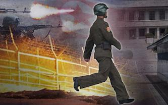نتیجه تصویری برای فرار سرباز کره شمالی و تیراندازی متقابل 2کره