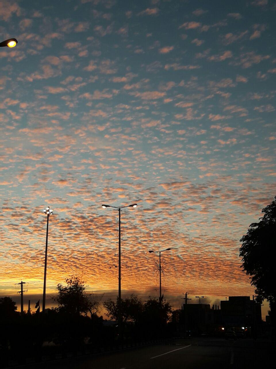 آسمان زیبای شهر سردشت بهبهان
