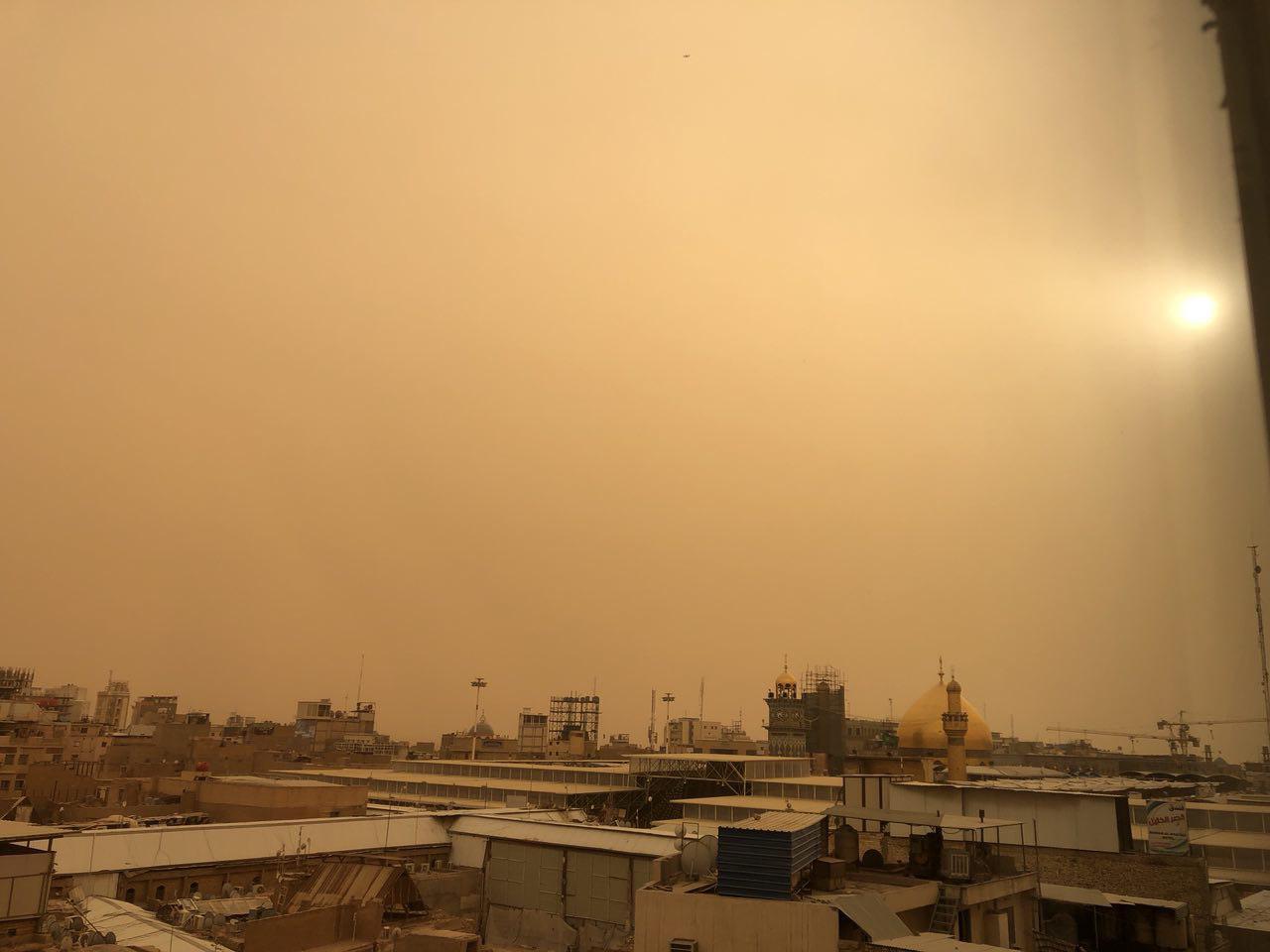 گرد و غبار شدید در نجف