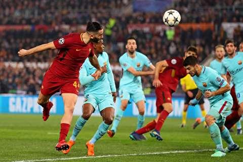 گزیده بازی بارسلونا - آ اس رم