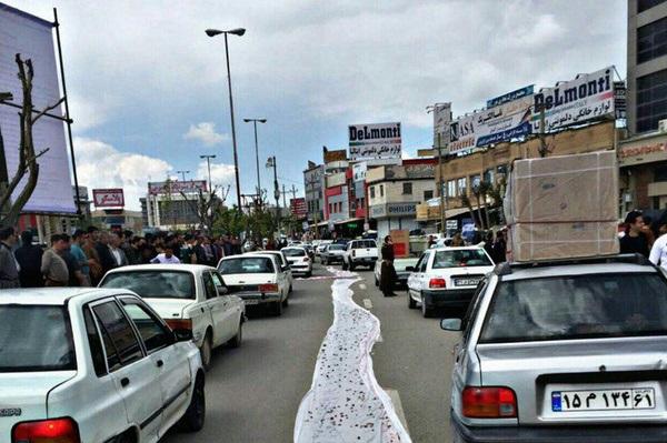 مرزنشینان سفره خالیشان را در خیابان پهن کردند! +تصویر