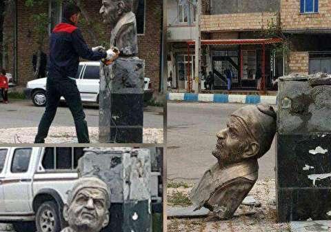 علت تخریب مشکوک مجسمه استاد شهریار