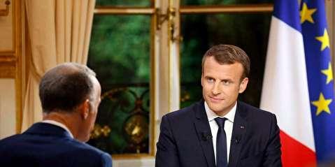 رئیس جمهور فرانسه گوشه رینگ خبرنگاران
