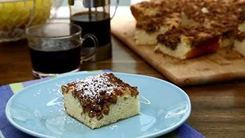 طرز تهیه کیک قهوه گردویی