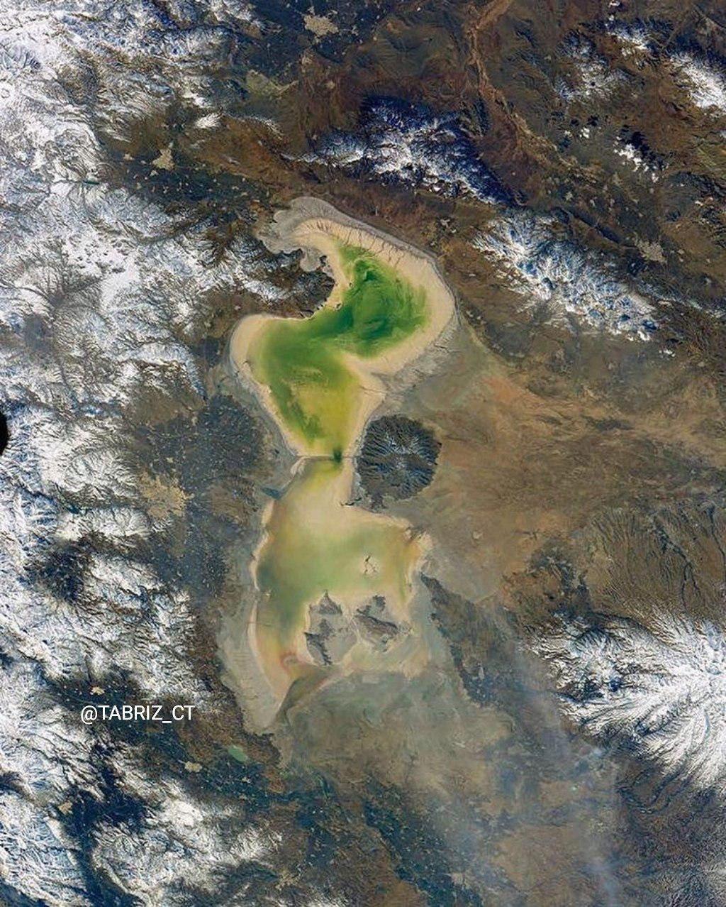 وضعیت دریاچه ارومیه از نگاه یک فضانورد