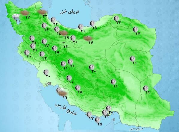 آخرین وضعیت آب و هوا و ترافیک جادهای؛ یکشنبه پنجم فروردین ۹۷