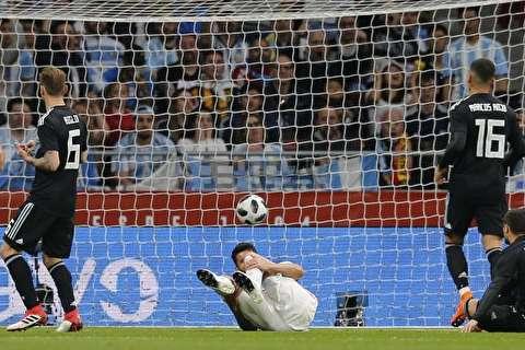 گزیده بازی اسپانیا - آرژانتین