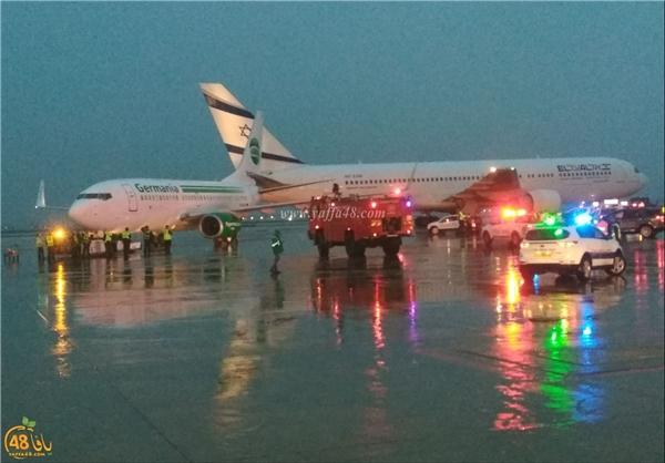 برخورد دو هواپیمای مسافربری در فرودگاه تلآویو