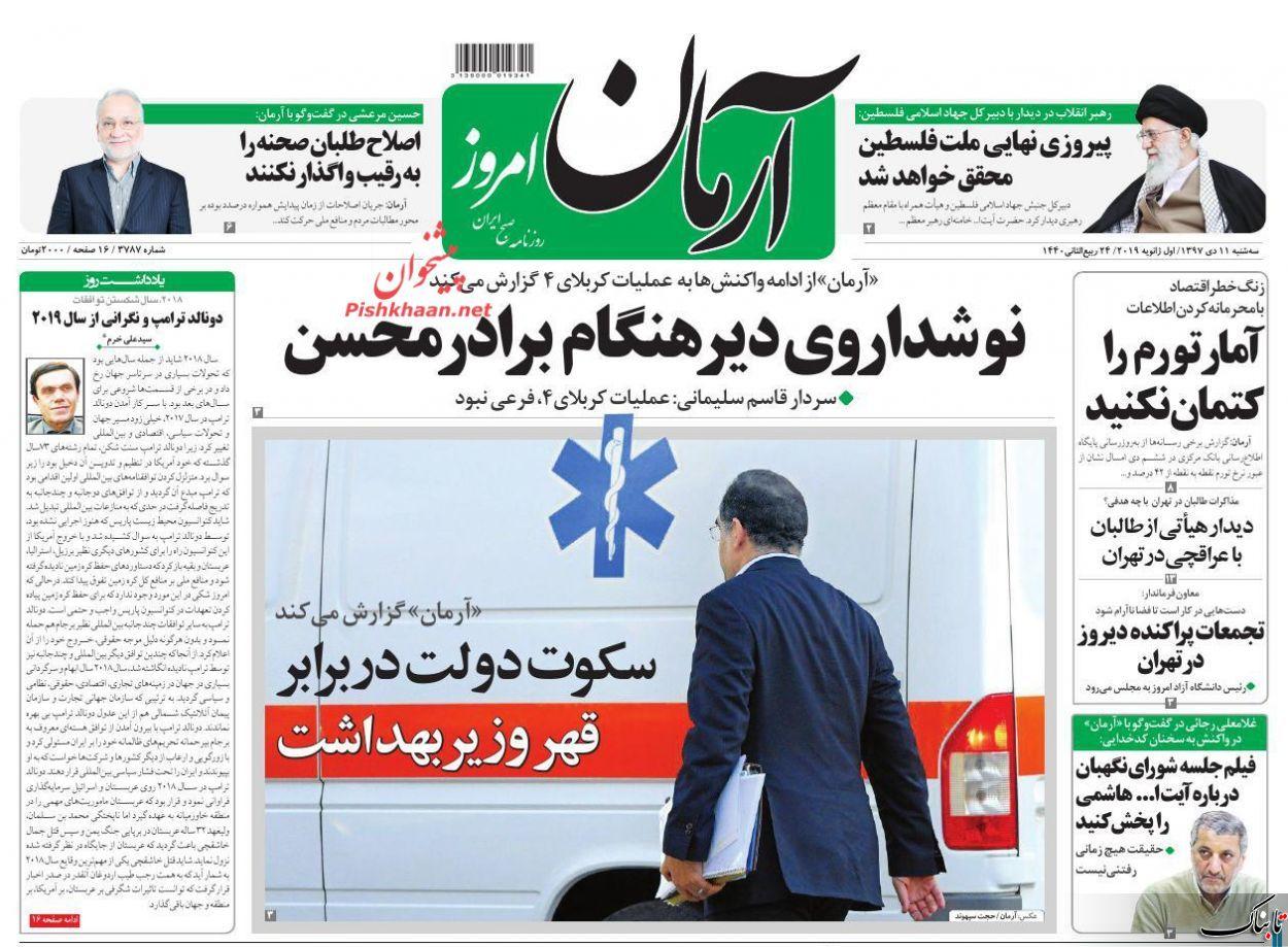 رونمایی کیهان از سناریوی احتمالی فتنه ۹۸/ضرورت مذاکره ایران و طالبان چیست؟ /سکوت دولت در برابر قهر وزیر بهداشت