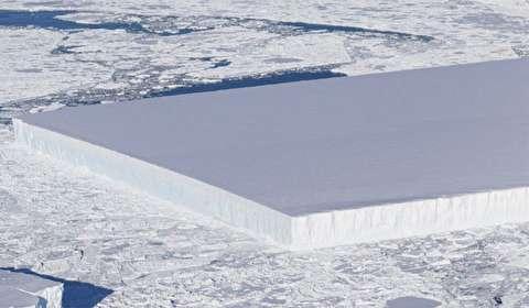 چگونه کوه یخ مستطیل شکل به وجود میآید؟