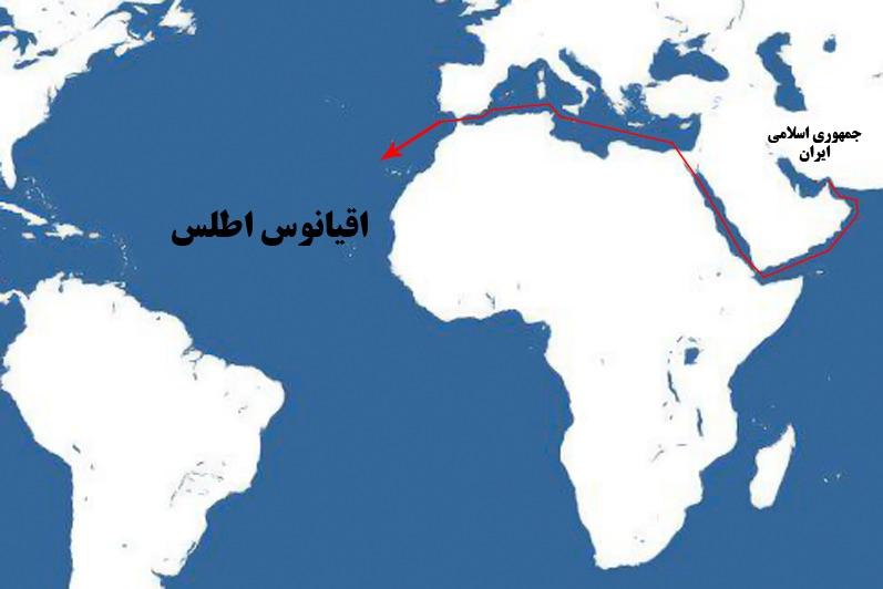 بزرگترین شناورهای ارتش ایران به اقیانوس اطلس و قاره آمریکا میروند