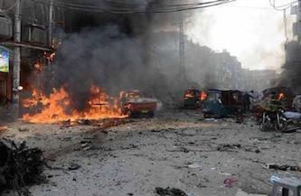 انفجار بمب در پیشاور پاکستان