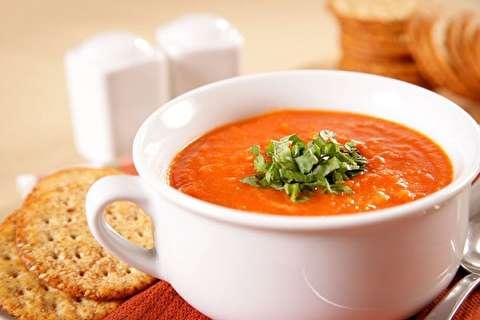 طرز تهیه سوپ گوجه بریان شده