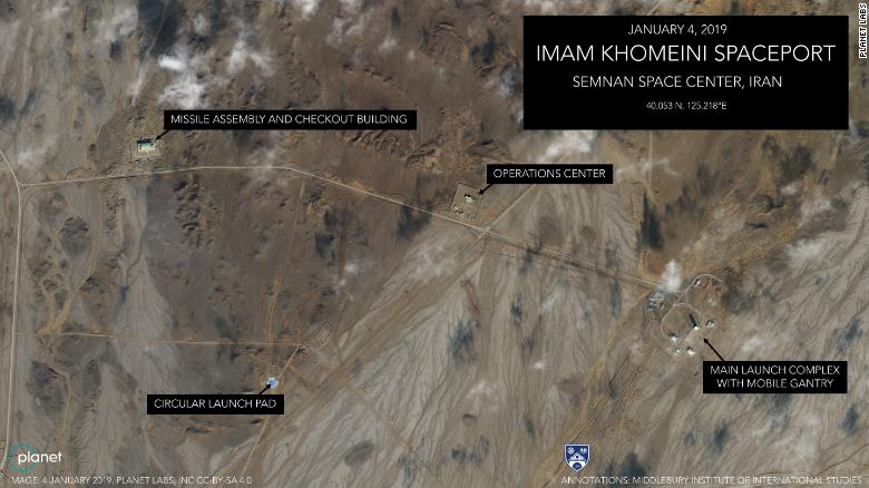 تصاویر ماهوارهای حاکی آمادگی ایران برای شلیک فضایی بهرغم تهدید آمریکا است