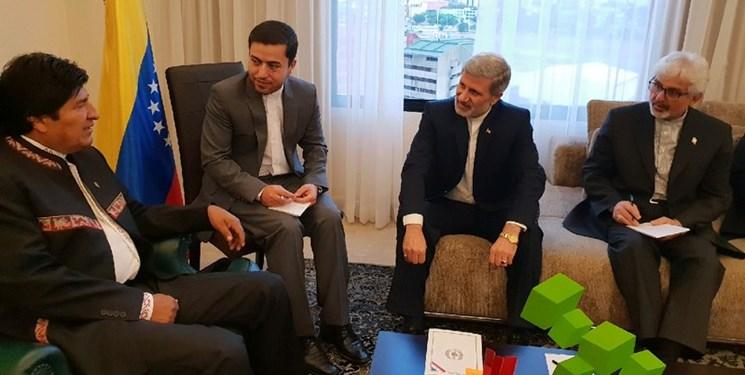 دیدار وزیر دفاع ایران با رئیس جمهور بولیوی