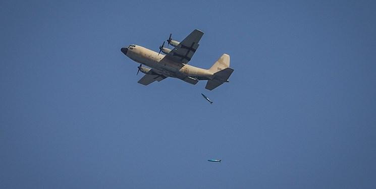 پرتاب بمب 2000 پوندی از هواپیمای سی-130
