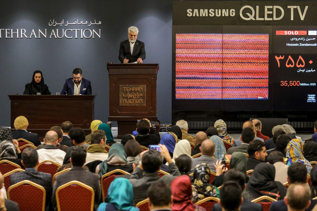 فروش آثار هنری چهار و 3.5 میلیاردی در حراج 34 میلیاردی تهران / گردش مالی 65 میلیاردی هنرهای تجسمی در 97