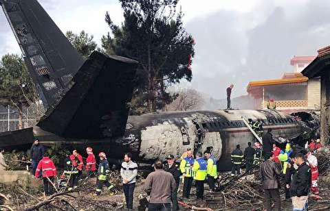 لحظات پس از سقوط هواپیما بوئینگ 707