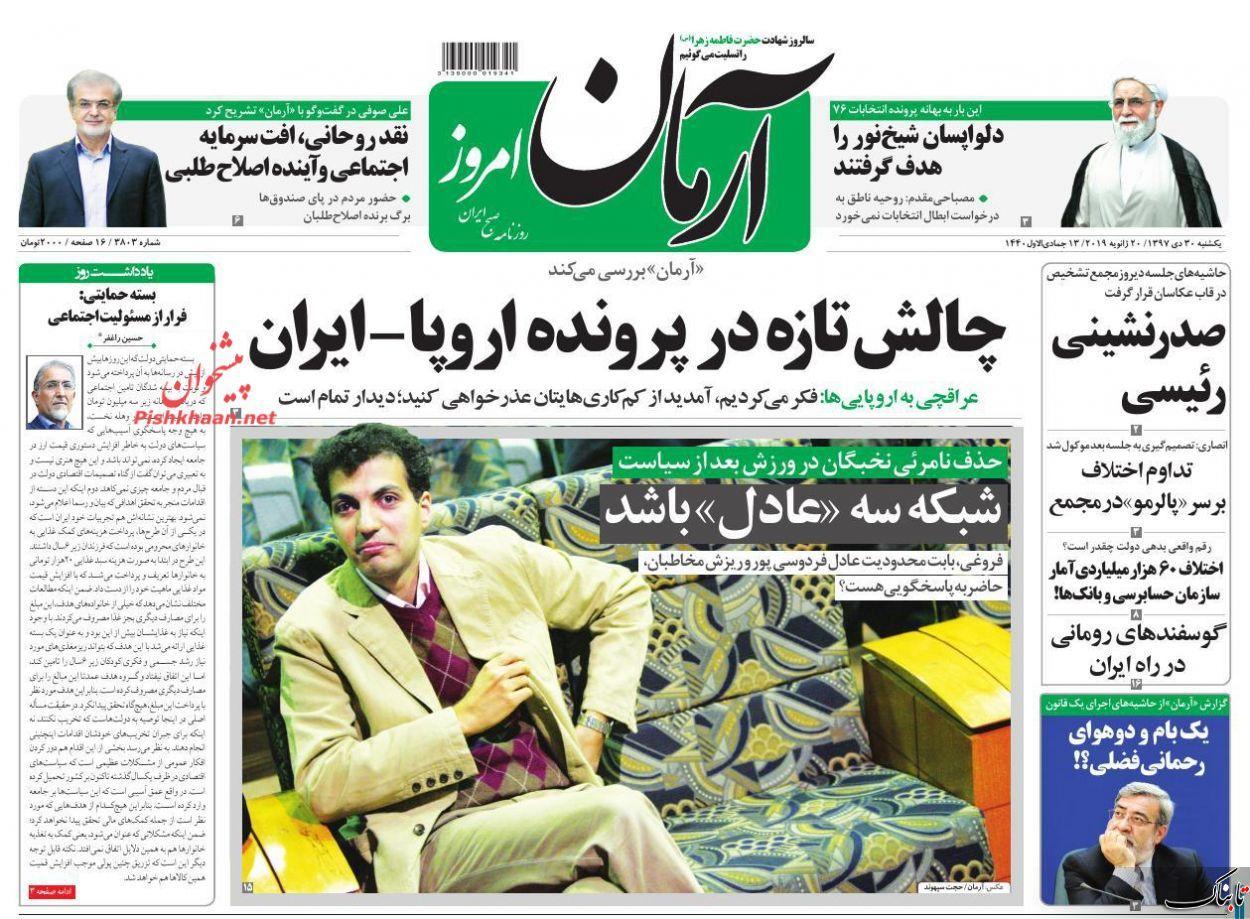 روزنامه آفتاب یزد 30 دی ماه